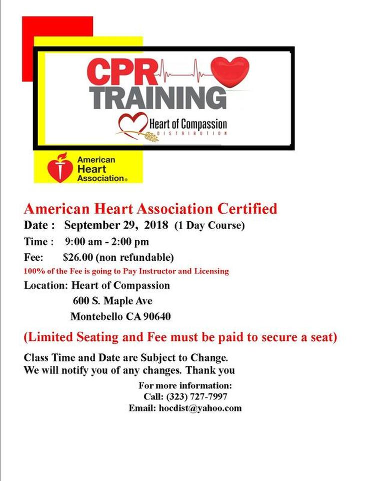 Cpr Class Heart Of Compassion